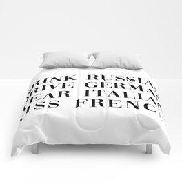 wear italian kiss french Comforters