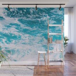 Blue Ocean Waves Wall Mural