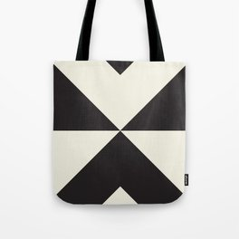 Split X Black Tote Bag