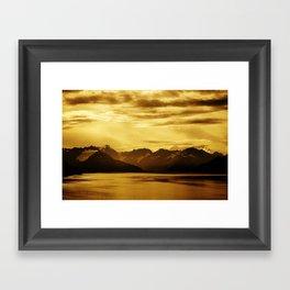 The Bay and Mountains Near Turnagain Arm, Alaska Framed Art Print