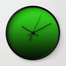 dark to the bright green color gradient Wall Clock