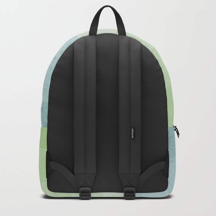 Fresh Cyan Lime Stripes Backpack