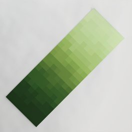 Gradient Pixel Green Yoga Mat
