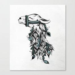Poetic Llama Canvas Print