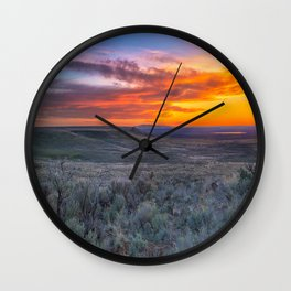 Color of the Desert Wall Clock