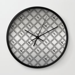 X Wing TIE Fighter Pattern Wall Clock