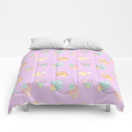 Pastel Melted Ice Cream (Lavender) Comforters