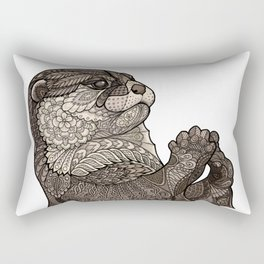 Infatuated Otter Rectangular Pillow