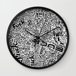 LOOK AT ALL THE FUCKS YOU DO NOT GIVE Wall Clock