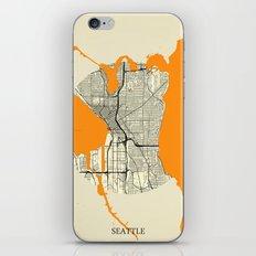 Seattle Map Moon iPhone Skin