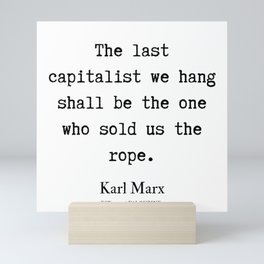3   | Karl Marx Quotes | 190817 Mini Art Print