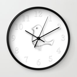 Glossy Bird Show Star Wall Clock