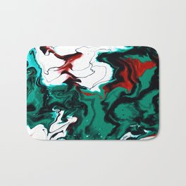 Dreamscape 01 in Green, White & Bronze Bath Mat