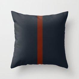vermilion line Throw Pillow