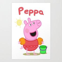 peppa 2 Art Print