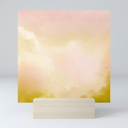 Abstract warm cloud background Mini Art Print