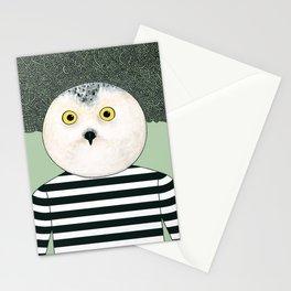 Black & White Owl Stationery Cards