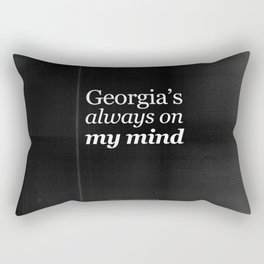 Georgia's always on my mind Rectangular Pillow