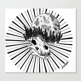 Wolfskull Forest Canvas Print