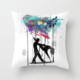 rain again  Throw Pillow