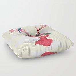 neon deer Floor Pillow