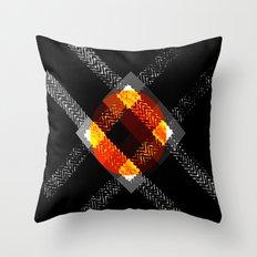 X And The Orange Throw Pillow