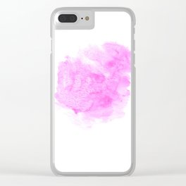 Pink watercolor abstract minimal modern painting perfect decor minimalist Clear iPhone Case