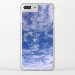 The Endless Deep Blue Sky Clear iPhone Case