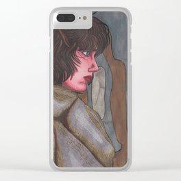 Alien Girl Clear iPhone Case