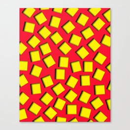 yellow square holes Canvas Print