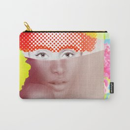 Sitted Woman with Flowers Carry-All Pouch
