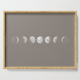 Moon Phases in Taupe Serving Tray