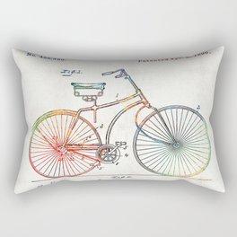 Colorful Bike Art - Vintage Patent - By Sharon Cummings Rectangular Pillow