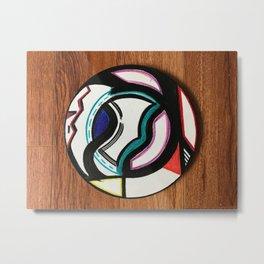 abstract table plate Metal Print