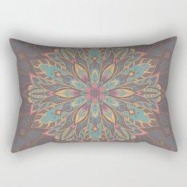 Brown colorful Tribal mandala Rectangular Pillow