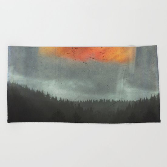 Spaces XVI - Fireball Beach Towel