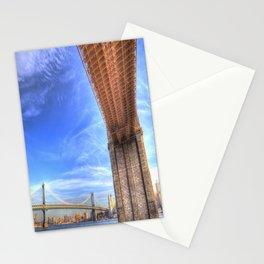 Brooklyn And Manhattan Bridges Stationery Cards