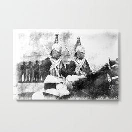 Household Cavalry Changing Of The Guard Vintage Metal Print