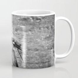 The Bird Dark Black and White Coffee Mug