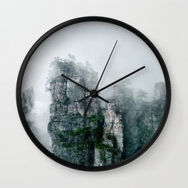 Lotus Mountain Wall Clock