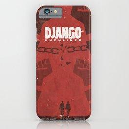Django Unchained, Quentin Tarantino, minimalist movie poster, Leonardo DiCaprio, spaghetti western iPhone Case