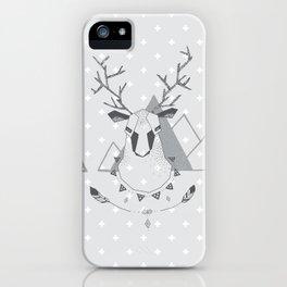 Geo Deer Gray iPhone Case