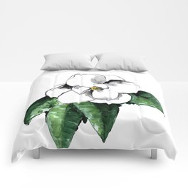 White magnolia Comforters