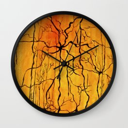 Neural Activity (An Ode to Cajal) Wall Clock