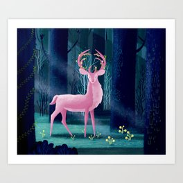 King Of The Enchanted Forest Art Print