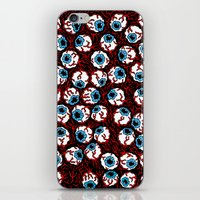 gore iPhone & iPod Skins featuring The Wizard of Gore by Russell Taysom