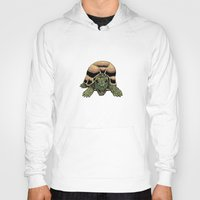 tortoise Hoodies featuring Happy Tortoise by Ken Coleman