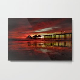 Surf City Sunset 11-15-16 Metal Print