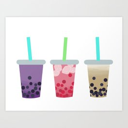 Bubble Tea Trio Art Print