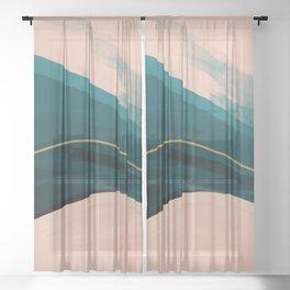California Watercolor Winter Sheer Curtain